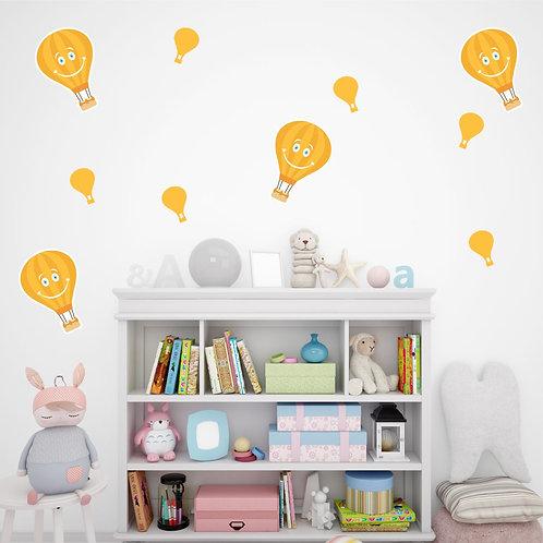Balões amarelo - Adesivo Decorativo