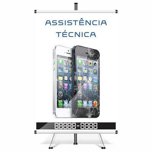 Banner Pronto Assistência Técnica Celular | 40x60cm