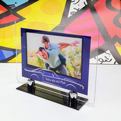 Porta-retrato em acrílico - Carro Azul - Dia dos Pais