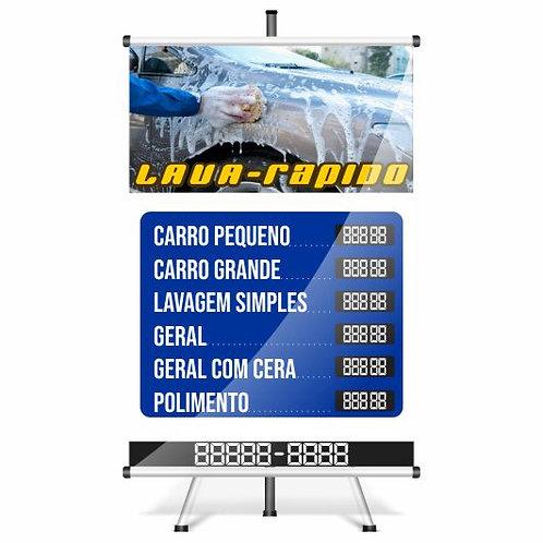 Banner Pronto Lava-rápido | 40x60 cm