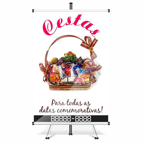 Banner Pronto - Cestas | 40x60 cm