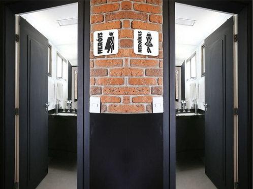 Placa para Banheiro em Acrílico | BN08