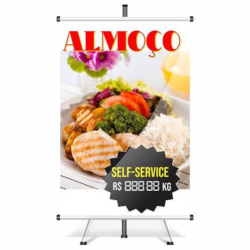 Banner Pronto Almoço | 40x60 cm