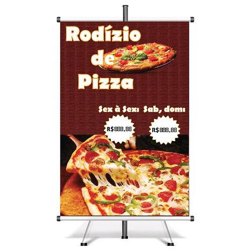Banner Pronto Rodízio de Pizza | 40x60 cm