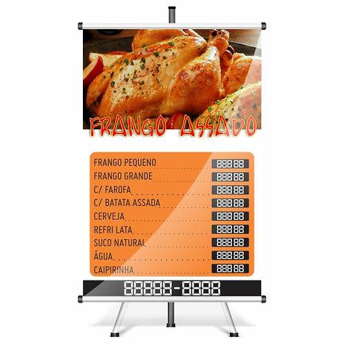 Banner Pronto Frango Assado | 40x60 cm