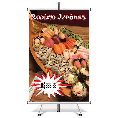 Banner Pronto Rodizio Japonês | 40x60 cm