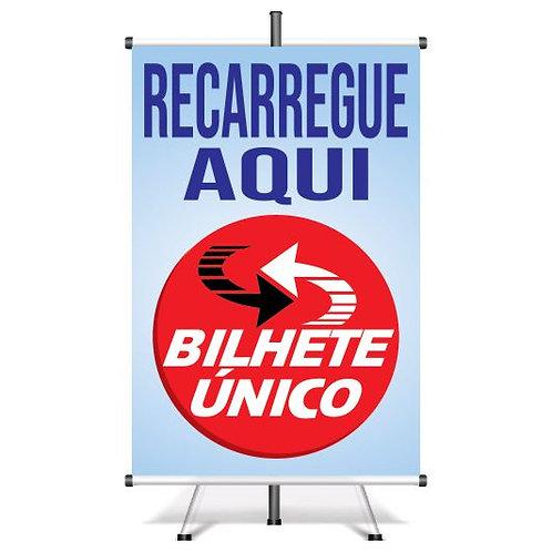 Banner Pronto Recarga de Bilhete Único | 40x60 cm