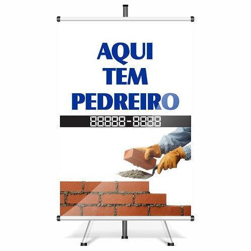 Banner Pronto - Pedreiro | 40x60 cm