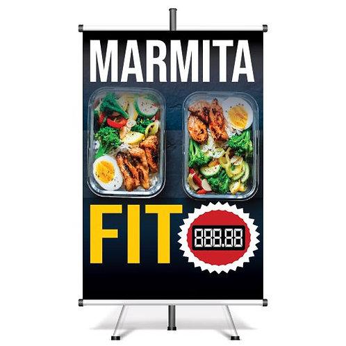 Banner Pronto Marmita Fit | 40x60 cm