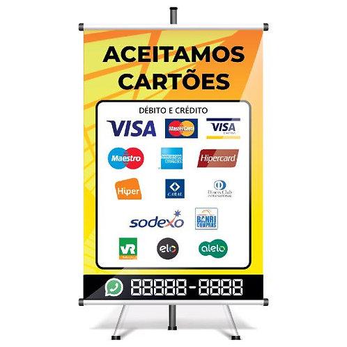 Banner Pronto Aceitamos Cartões | 40x60 cm