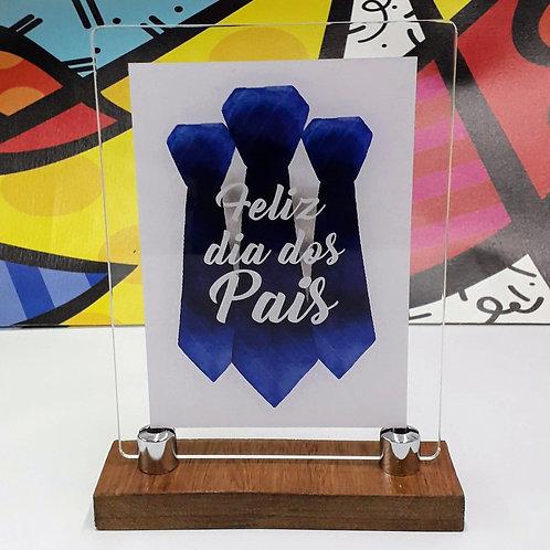 Porta-retrato em acrílico - Gravata Azul - Dia dos Pais