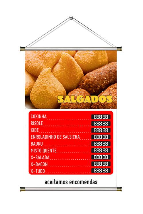Banner Pronto Salgados | 40x60 cm