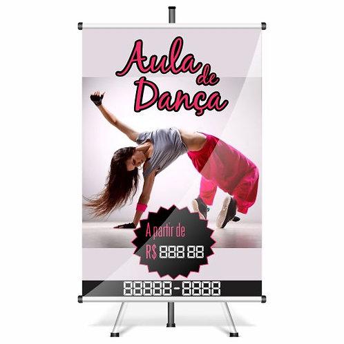 Banner Pronto - Aula de dança | 40x60 cm