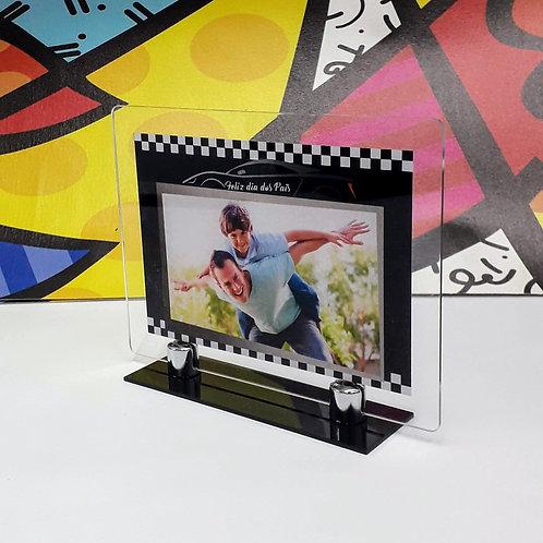 Porta-retrato em acrílico - Carro de Corrida - Dia dos Pais