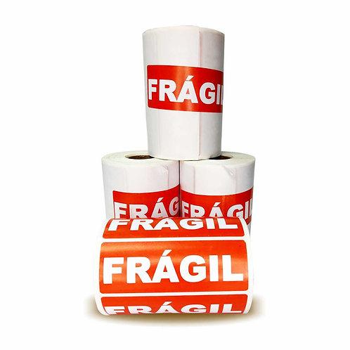 """1 Rolo Lacre Delivery """"Frágil"""" 3,5x10cm -SEM PICOTE"""