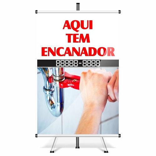 Banner Pronto Encanador | 40x60 cm