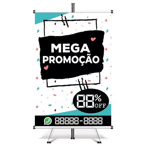 Banner Pronto Mega Promoção | 40x60 cm