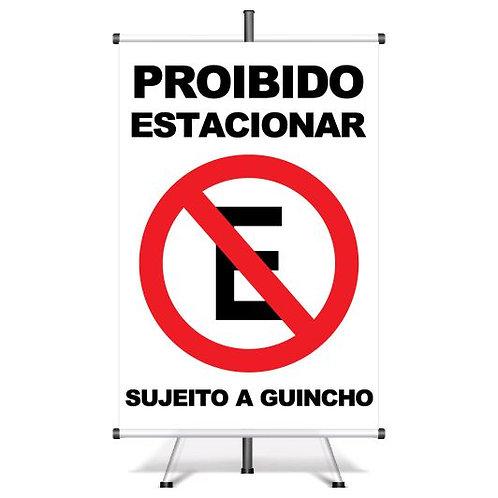 Banner Pronto Proibido Estacionar | 40x60 cm