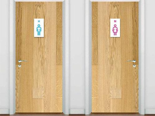 Placa para Banheiro em Acrílico | BN03