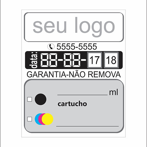 Etiqueta para cartucho de impressora 300 peças tamanho 2,2 x 2,7 cm