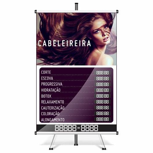 Banner Pronto Cabeleireiro | 40x60 cm