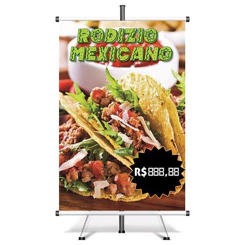 Banner Pronto Rodizio Mexicano | 40x60 cm