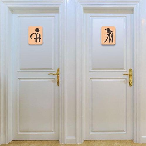 Placa para Banheiro em Acrílico | BN06