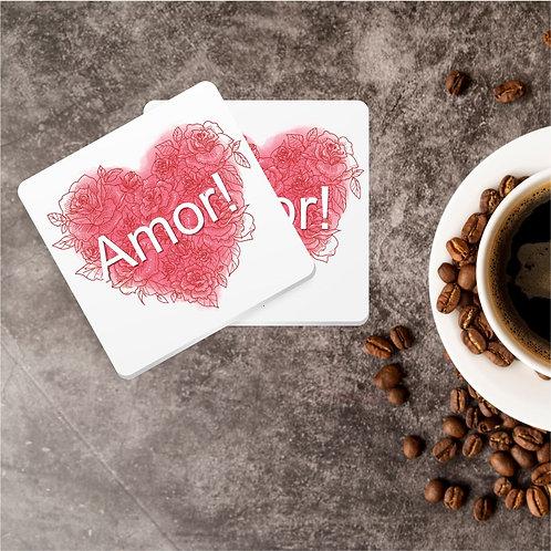 Amor | Kit com 6 Porta Copos em Acrílico