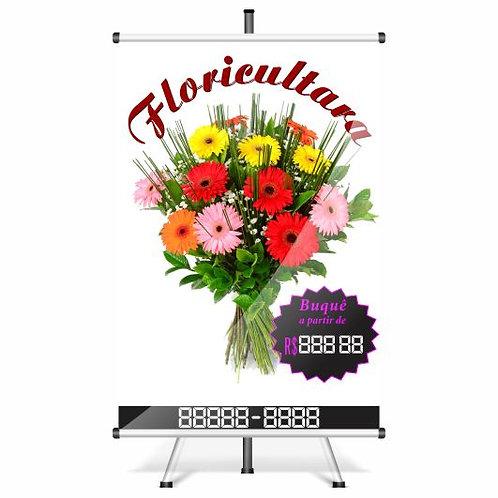 Banner Pronto - Floricultura | 40x60 cm