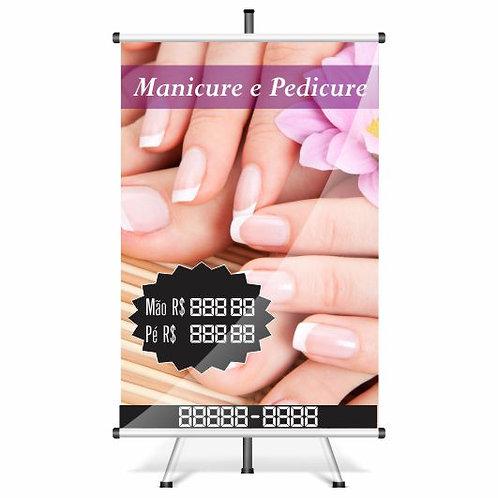Banner Pronto - Manicure e Pedicure | 40x60 cm