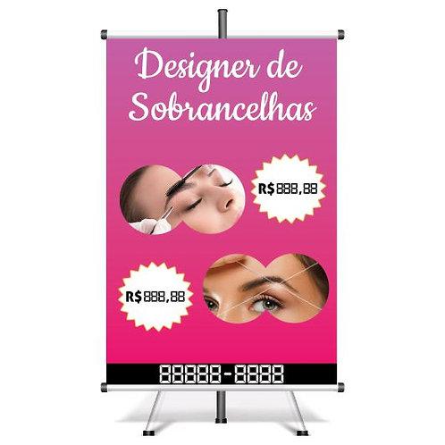 Banner Pronto Design de Sobrancelhas | 40x60 cm