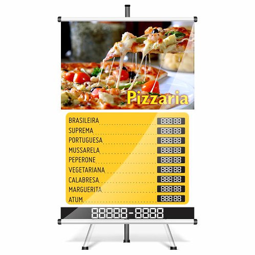 Banner Pronto Pizzaria | 40x60 cm