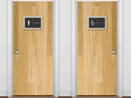 Placa para Banheiro em Acrílico | BN02