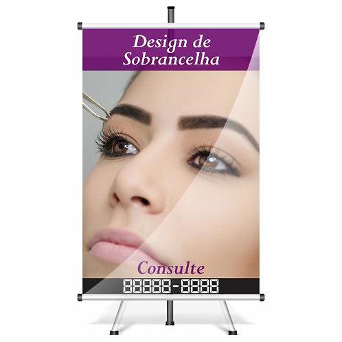 Banner Pronto Design de Sobrancelha | 40x60 cm