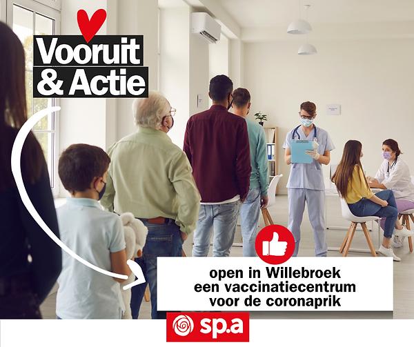 open in Willebroek een vaccinatiecentrum