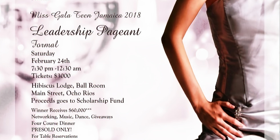 Miss Gala Teen Jamaica 2018 Leadership Pageant