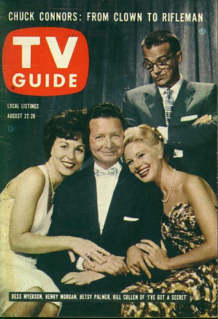 1959 TV Guide Bill Cullen Betsy Palmer Henry Morgan Bess Myerson