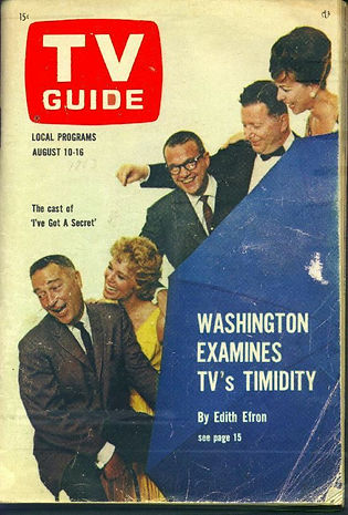 TV Guide 1963 Garry Moore Betsy Palmer Bill Cullen Henry Morgan, Bess Myerson