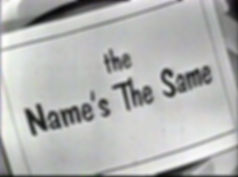 The Name's the Same game show Bill Cullen