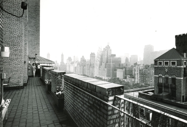 Bill and Ann on the deck of their apartment in New York