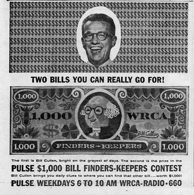 Bill Cullen Pulse Radio Finders Keepers advertisement