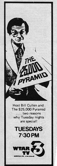 Bill Cullen $25,000 Pyramid game show