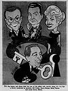 Bill Cullen Henry Morgan Betsy Palmer Garry Moore I've Got a Secret caricature