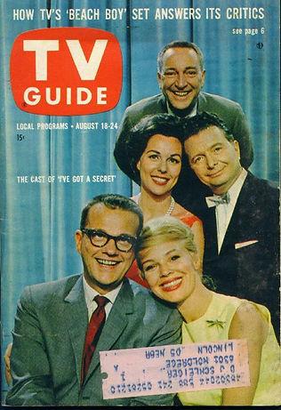 1962 TV Guide Gary Moore Bess Myerson Henry Morgan, Bill Cullen, Betsy Palmr