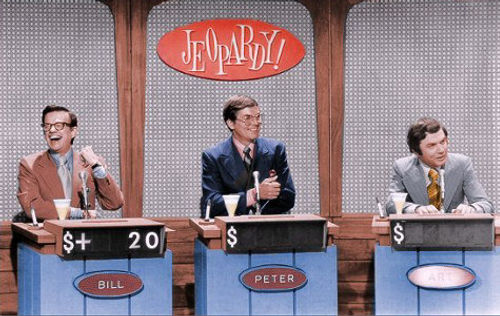 Bill Cullen Peter Marshall Art James Jeopardy game show