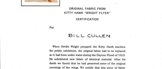 Not a card or a license, but we put it here because so much of Bill's papers included things relevant to flight.