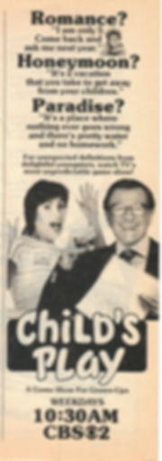 Bill Cullen Child's Play TV Guide ad