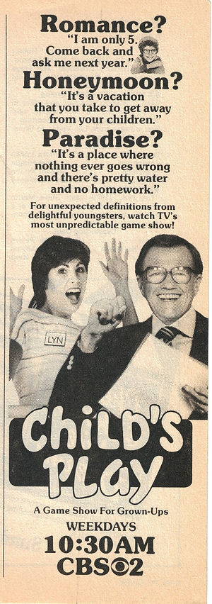 Bill Cullen Child's Play TV Guide ad