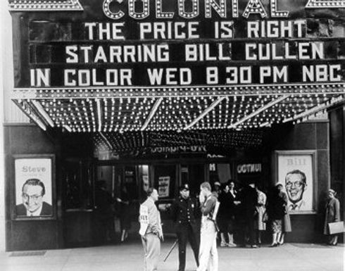 The Price is Right Bill Cullen Colonial Theater Marquee
