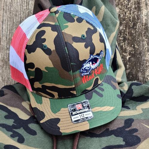 Camo USA Hat